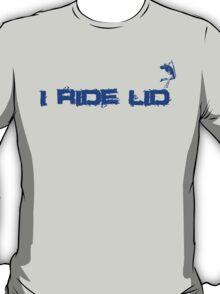 i ride lid blue T-Shirt