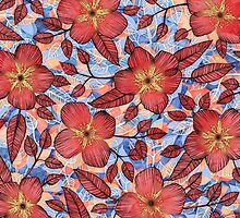 Coral Summer - a hand drawn floral pattern by micklyn
