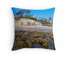 Corona del Mar Tidepools Throw Pillow