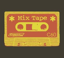 Psychedelic Mix Tape - Orange and Yellow by Artberry