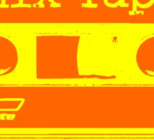 Psychedelic Mix Tape - Orange and Yellow Sticker