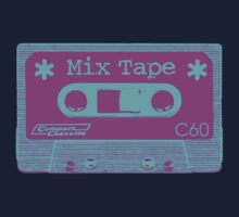 Psychedelic Mix Tape - Cyan and Magenta by Artberry
