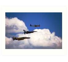 Flying Trio Art Print