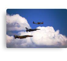 Flying Trio Canvas Print