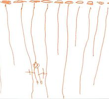 Drawing 4 year old : Swinging from the vines  by Isa Rodriguez