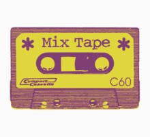 Psychedelic Mix Tape - Magenta and Yellow by Artberry