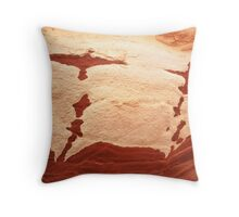 rock birds taking off Throw Pillow