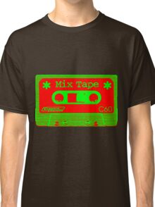 Psychedelic Mix Tape - Red and Green Classic T-Shirt