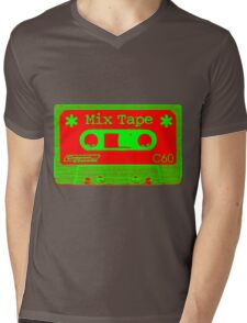Psychedelic Mix Tape - Red and Green Mens V-Neck T-Shirt