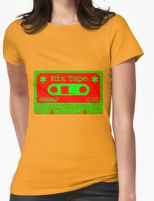 Psychedelic Mix Tape - Red and Green Womens T-Shirt