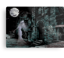 Past Midnight .. The lonely ghost Metal Print