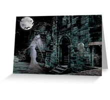 Past Midnight .. The lonely ghost Greeting Card