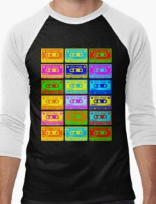 Psychedelic Mix Tapes Men's Baseball ¾ T-Shirt