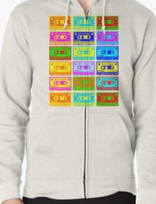 Psychedelic Mix Tapes Zipped Hoodie