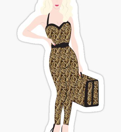 Blonde Bulletshell Sticker