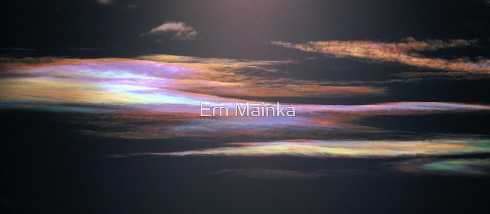 Iridescent Altostratus Cloud near Melbourne, Victoria. by Ern Mainka