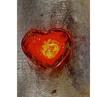 molten heart Photographic Print