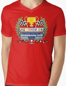 Chase for the Mushroom Cup Mens V-Neck T-Shirt