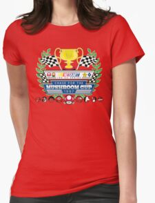 Chase for the Mushroom Cup Womens Fitted T-Shirt