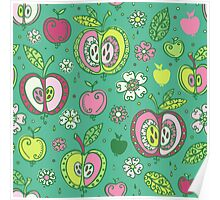Apples fruits Poster