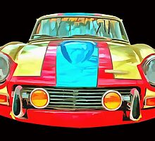 Vintage Triumph GT6 Plus Race Car by Edward Fielding