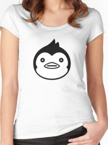 Mawaru Penguindrum - B/W Penguin Women's Fitted Scoop T-Shirt