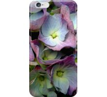 flowers blue pink iPhone Case/Skin