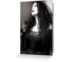 The Bride Wore Black (Gothic Girls) Greeting Card
