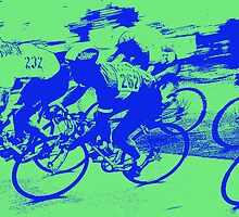 Digital Art Image of Men's Cycling Competition by Diane Johnson