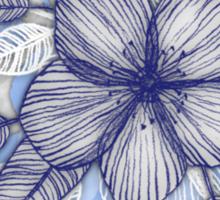 Indigo Summer - a hand drawn floral pattern Sticker