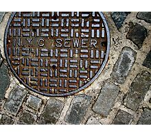 n.y.c. sewer Photographic Print