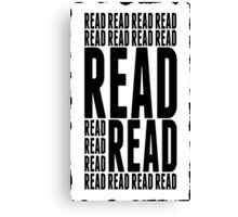 Book Reader Tshirt, Posters and Mobile Covers Canvas Print
