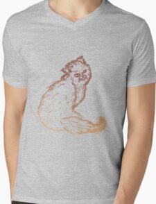 Persian Cat Sketch 2 Mens V-Neck T-Shirt