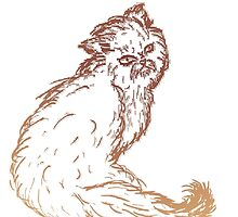 Persian Cat Sketch 2 by AnnArtshock