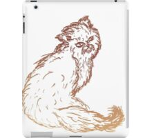 Persian Cat Sketch 2 iPad Case/Skin