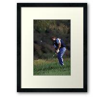 Digital Photo of Male Golfer Swinging a Club Framed Print