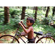 Bicycles and Laughter Photographic Print