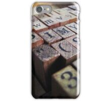Writing the stories ... iPhone Case/Skin
