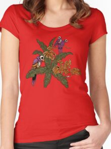 Tropical Horror Print 1 Women's Fitted Scoop T-Shirt