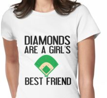 DIAMONDS ARE A GIRL'S BF Womens Fitted T-Shirt