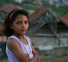 Roma Girl, Rahovec, Kosovo by Christopher Bobyn