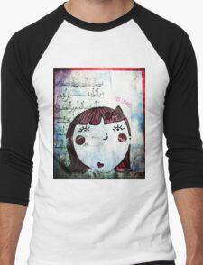 Les lèvres rouges Men's Baseball ¾ T-Shirt