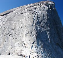 Half Dome Ascent by Russ Barber