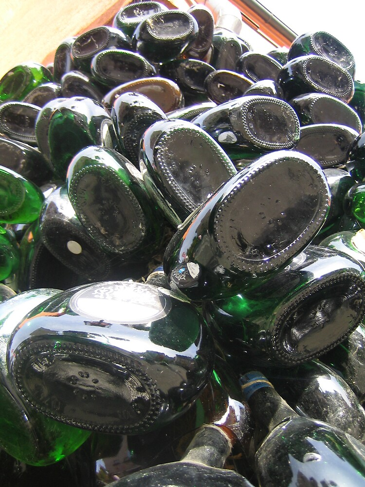 Bottles Outside Bar, Nuremberg, Germany by Christopher Bobyn