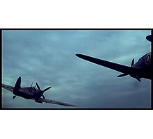 Out of the Blue, The Planes Came and Flew.  Photographic Print