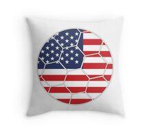USA Football (Soccer) Design Throw Pillow