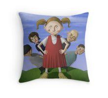 Editorail Illustration Throw Pillow