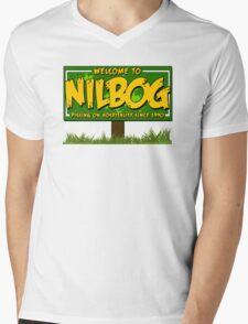Nilbog! Mens V-Neck T-Shirt