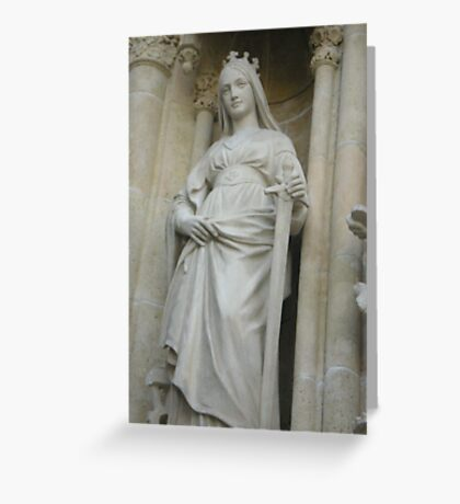 Religious statue Greeting Card