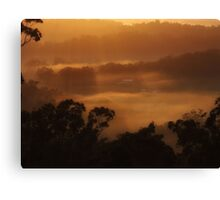 """Neighbours in the Mist"" Canvas Print"